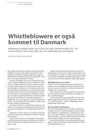 Whistleblowere er også kommet til Danmark - Pharmadanmark