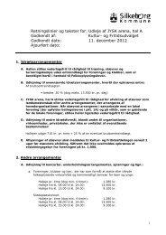 Retningslinjer for udleje af JYSK arena, hal A - Silkeborg Kommune