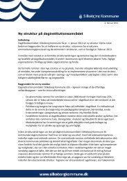 Strukturen på Silkeborg Kommunes dagtilbud