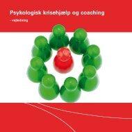 Vejledning psykologisk krisehjælp og coaching (pdf) - Silkeborg ...