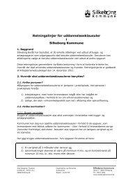Retningslinjer for uddannelsesklausuler i Silkeborg Kommune