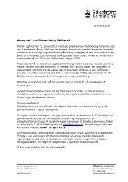 Høring vedr. vandløbsregulering i Møllebæk Teknik- og Miljø har 23 ...