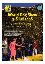 Bilaga om World Dog Show 2008 - Svenska Kennelklubben