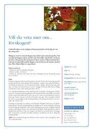 12528 Vill du veta mer om lövskogen infoblad.indd - SLI.se