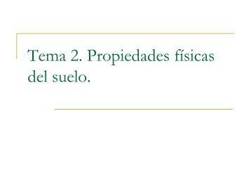 Tema 2. Propiedades físicas del suelo. - Educarm