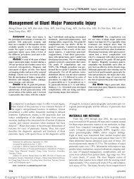 Management of Blunt Major Pancreatic Injury