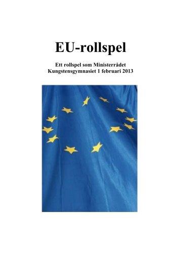 Bilder från EU-rollspelet (pdf) - Folkuniversitetet