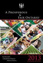 2013 Ontario Budget - Ministry of Finance - Ontario.ca
