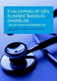 Evaluering af den kliniske basisuddannelse - Sundhedsstyrelsen