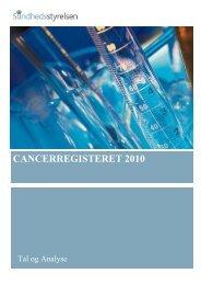 Cancerregisteret 2010 - Sundhedsstyrelsen