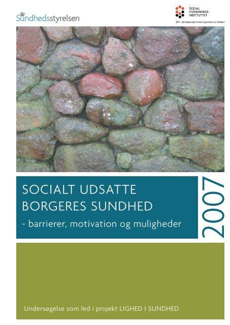 SOCIALT UDSATTE BORGERES SUNDHED - Sundhedsstyrelsen