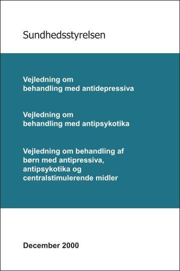 Vejledning om behandling med antidepressiva - Sundhedsstyrelsen