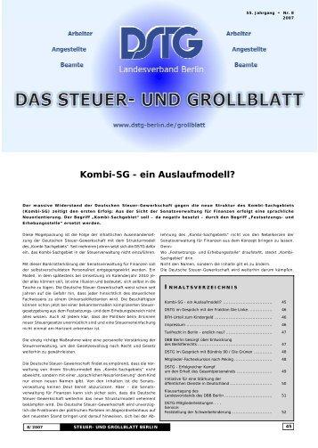 Kombi-Sg - ein Auslaufmodell - Dstg-Berlin