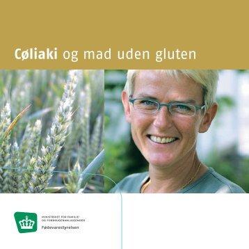 """Pjecen """"Cøliaki og mad uden gluten"""" - Sundhedsstyrelsen"""