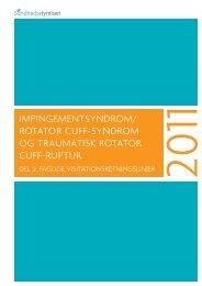 Impingementsyndrom/rotator cuff syndrom og traumatisk rotator cuff ...