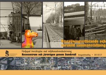 2. Utställningsutlåtande och särskild sammanställning - Sundsvall