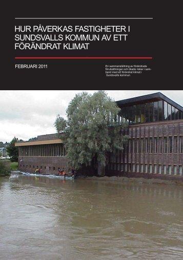 hur påverkas fastigheter i sundsvalls kommun av ett förändrat klimat