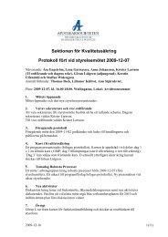Sektionen för Kvalitetssäkring Protokoll fört vid styrelsemötet 2009 ...