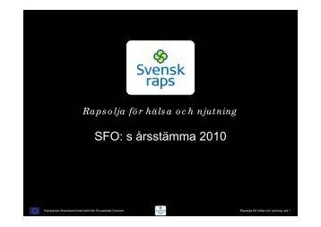 Rapsoljeprojektet - Svensk Raps
