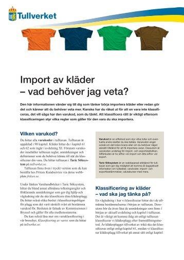 Import av kläder – vad behöver jag veta? - Tullverket