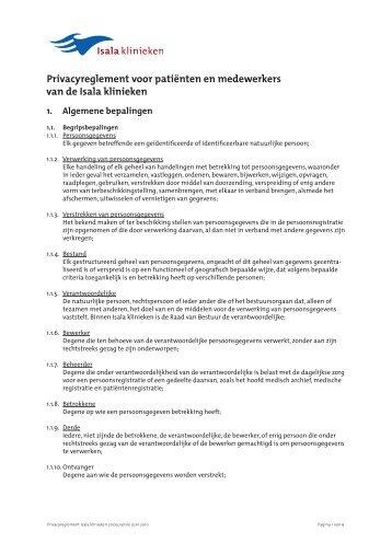 Privacyreglement voor patiënten en medewerkers ... - Isala Klinieken