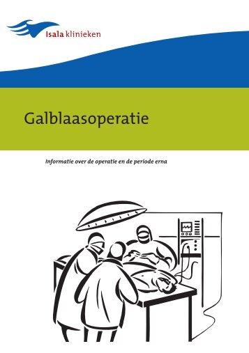Galblaasoperatie - Isala Klinieken