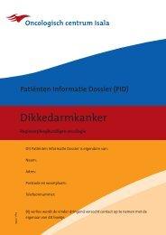 Patiënten Informatie Dossier (PID) Dikkedarmkanker. - Isala Klinieken
