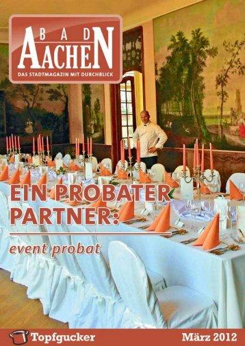 perfekt aus einer Hand ein probater partner > die feste ... - Bad Aachen