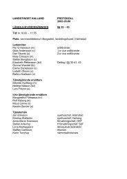 LANDSTINGET HALLAND PROTOKOLL 2002-05 ... - Region Halland