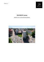 Verksamhetsberättelse och bokslut 2009 [pdf] - Hanken Svenska ...