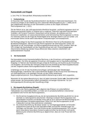Kameralistik und Doppik - Österreichischer Kommunal-Verlag