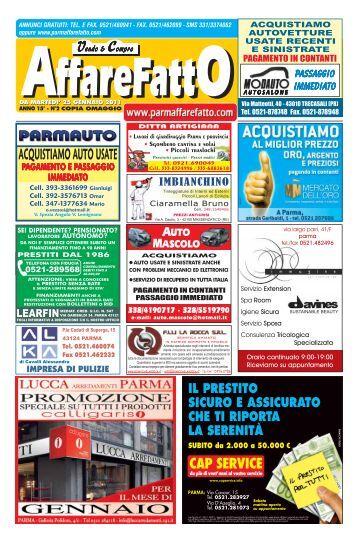 prestito - Affare Fatto Parma