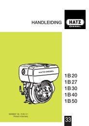 1B 20 1B 27 1B 30 1B 40 1B 50 - HATZ Diesel
