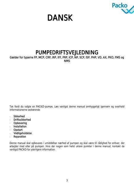 Roestvast stalen centrifugaalpompen - PFI Flowteknik