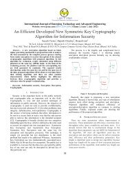 An Efficient Developed New Symmetric Key Cryptography ... - IJETAE