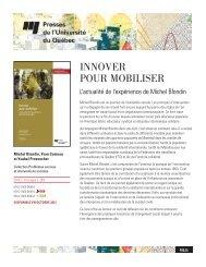 INNOVER POUR MOBILISER - Université Laval