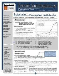 Suicide...l'exception québécoise - Faculté des sciences sociales ...