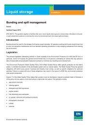 Bunding and spill management - EPA - SA.Gov.au