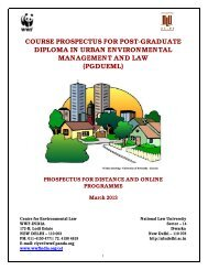 course prospectus for post-graduate diploma in urban ... - WWF-India