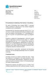 Principtilladelse til etablering af Ny Vesthavn i Kalundborg