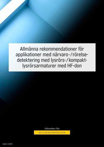 Allmänna rekommendationer för applikationer med ... - Ljuskultur