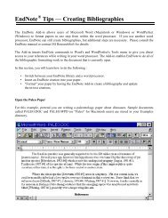 EndNote Tips — Creating Bibliographies
