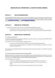Article 1 : Société organisatrice - Kinder s'engage pour l'enfance
