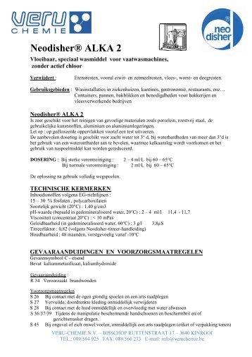 Neodisher® ALKA 2 - Proximedia