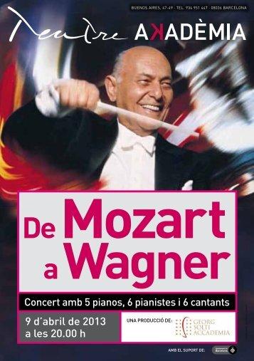 Concert amb 5 pianos, 6 pianistes i 6 cantants 9 d'abril de 2013 a ...