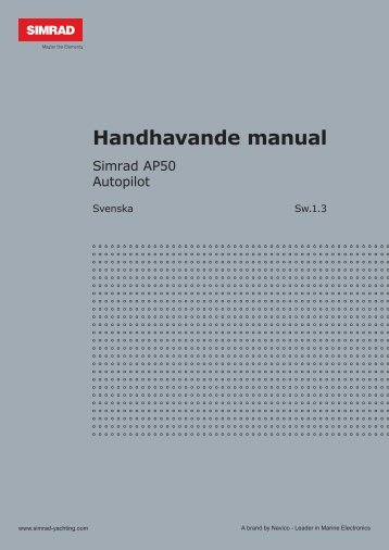 Handhavande manual - Simrad Professional Series - Simrad Yachting