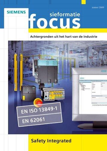 Sieformatie focus machineveiligheid - Industry - Siemens Nederland