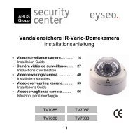 Vandalensichere IR-Vario-Domekamera ... - MCS Security