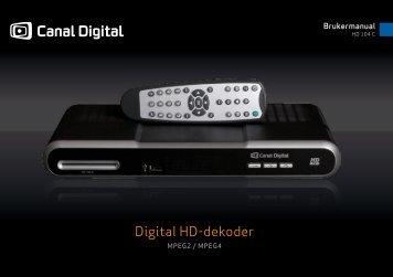 Digital HD-dekoder - Canal Digital Kabel-TV