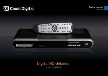 Digital HD-dekoder - Canal Digital Kabel-TV